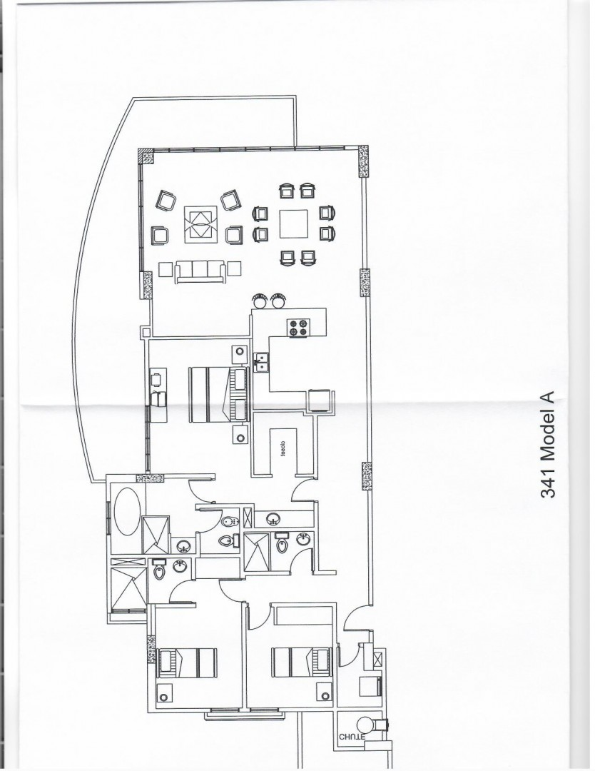 Floorplan Condo at Oceania Aruba